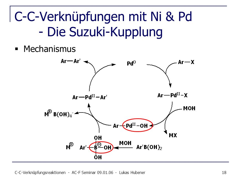 C-C-Verknüpfungen mit Ni & Pd - Die Suzuki-Kupplung