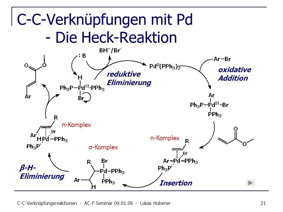C-C-Verknüpfungen mit Pd - Die Heck-Reaktion