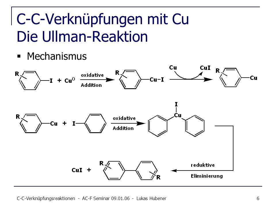 C-C-Verknüpfungen mit Cu Die Ullman-Reaktion