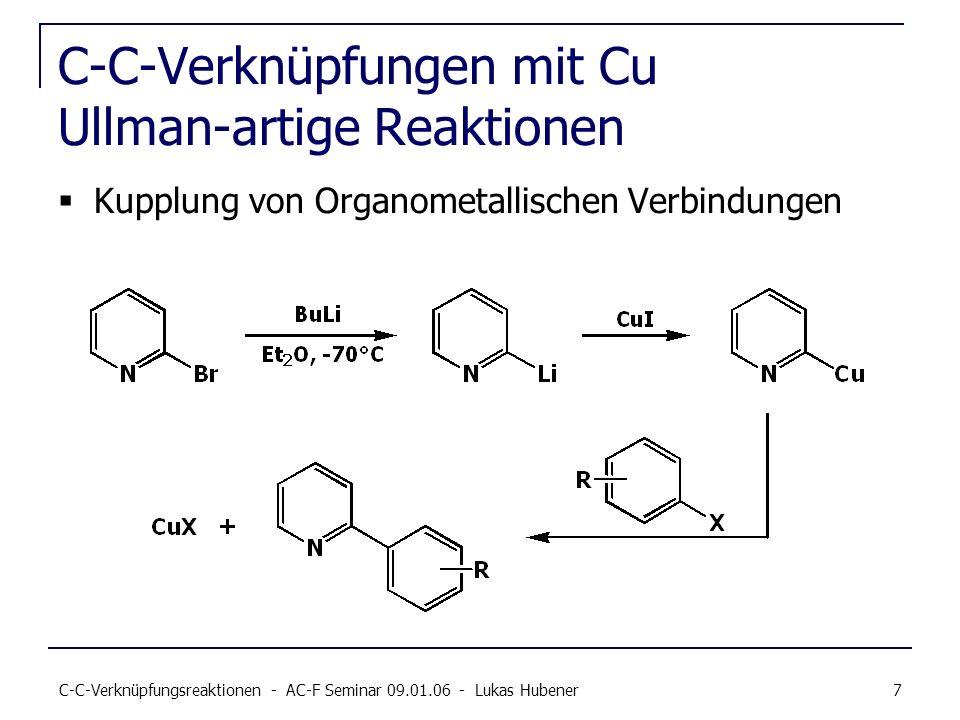 C-C-Verknüpfungen mit Cu Ullman-artige Reaktionen