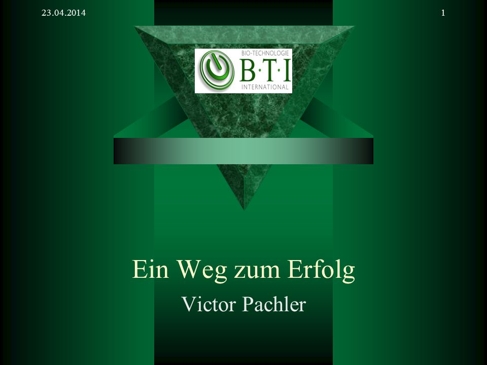 28.03.2017 Ein Weg zum Erfolg Victor Pachler
