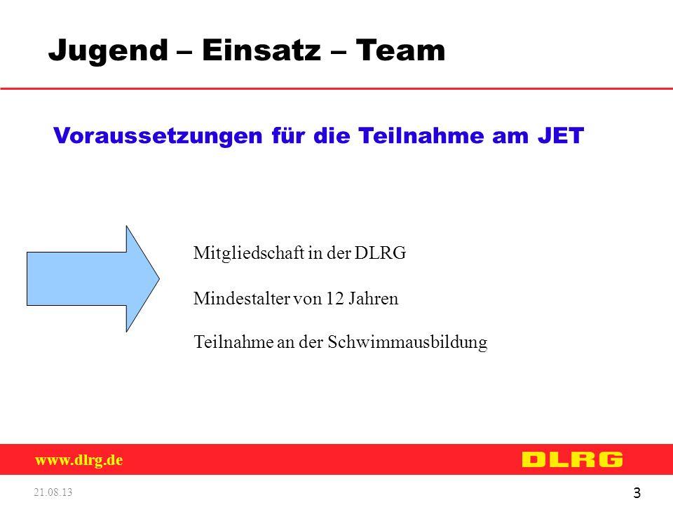 Jugend – Einsatz – Team Voraussetzungen für die Teilnahme am JET