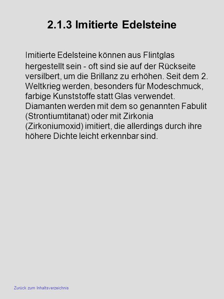 2.1.3 Imitierte Edelsteine
