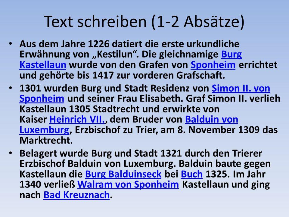 Text schreiben (1-2 Absätze)