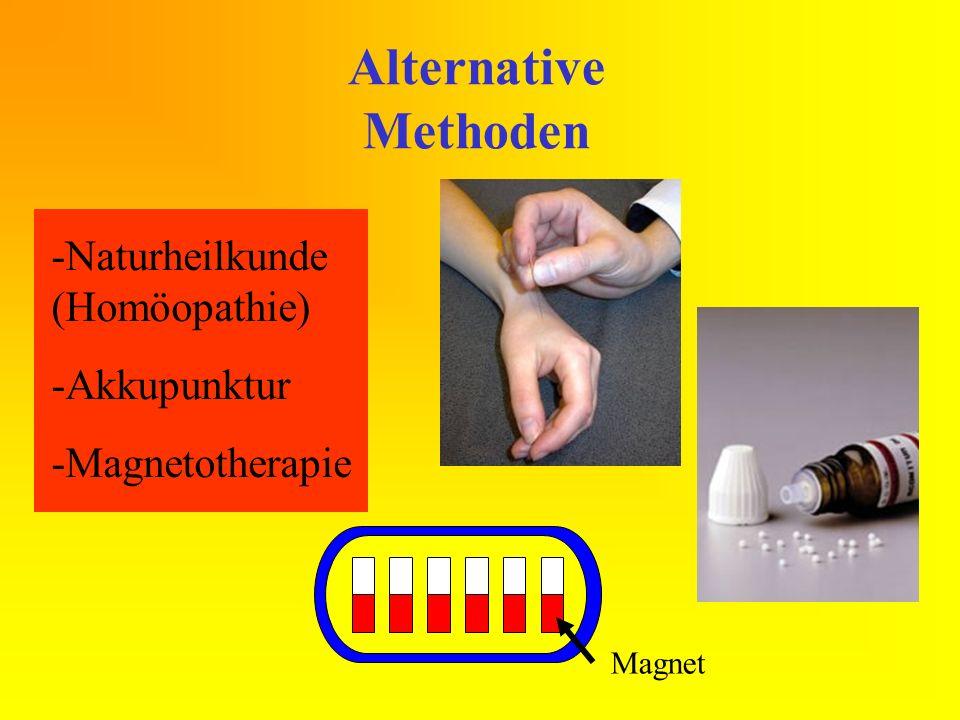 Alternative Methoden Naturheilkunde (Homöopathie) Akkupunktur