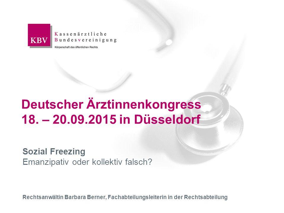 Deutscher Ärztinnenkongress 18. – 20.09.2015 in Düsseldorf