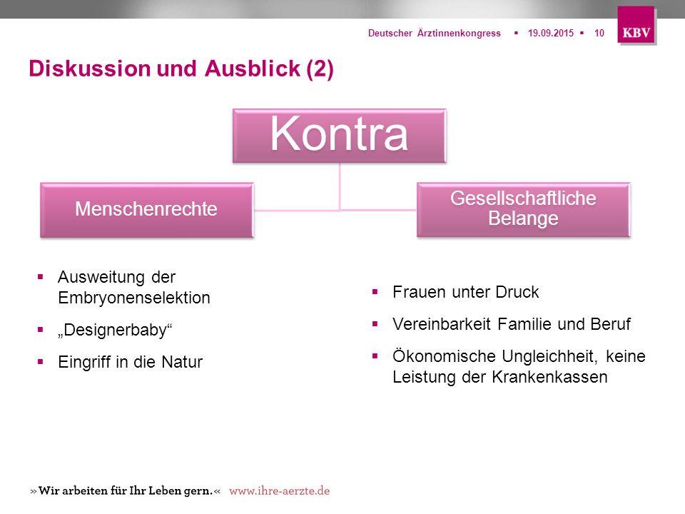 Diskussion und Ausblick (2)