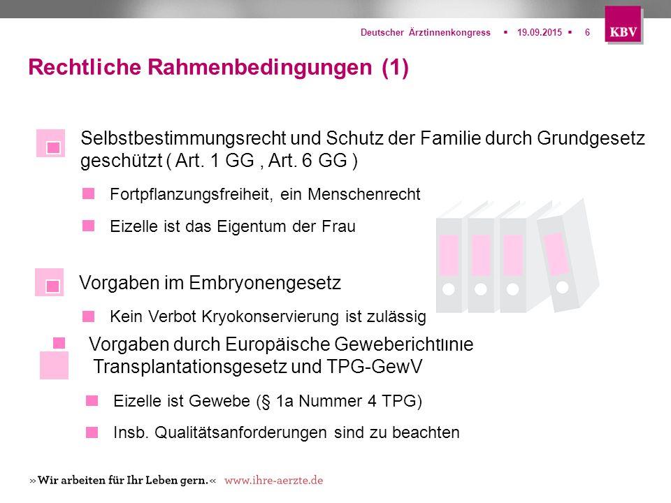 Rechtliche Rahmenbedingungen (1)