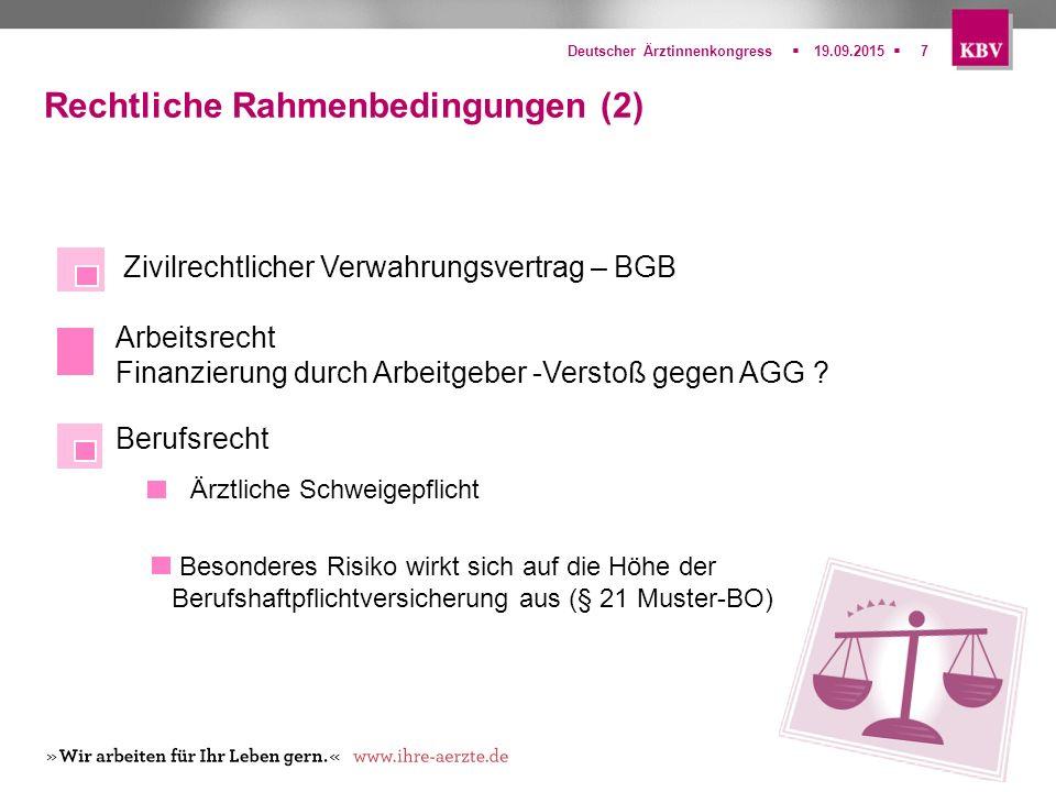Rechtliche Rahmenbedingungen (2)