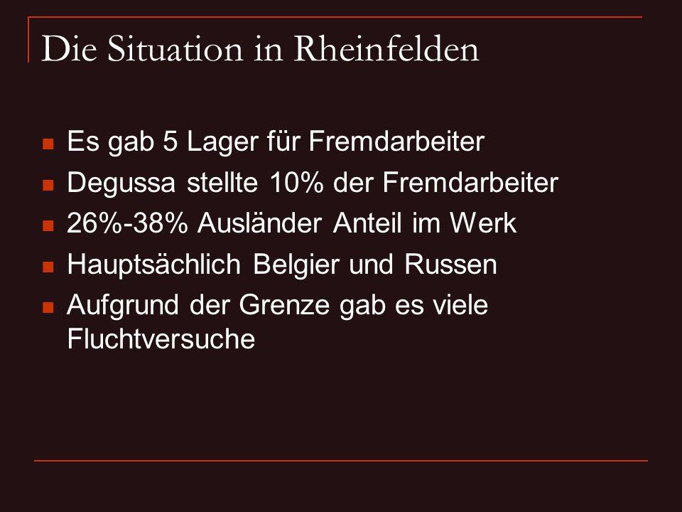 Die Situation in Rheinfelden