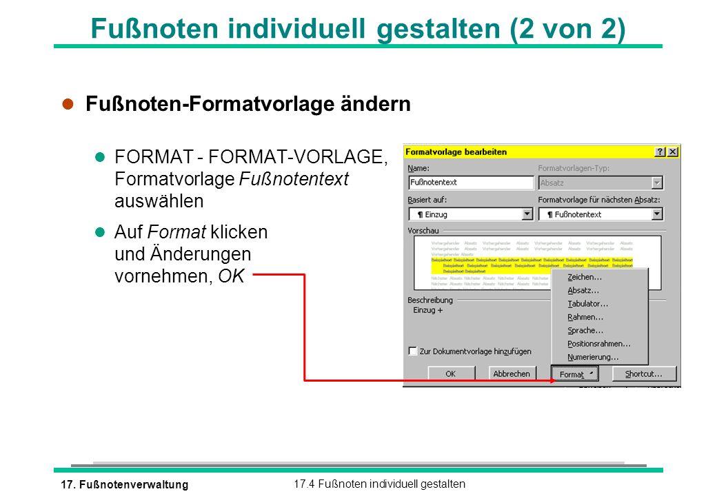 Fußnoten individuell gestalten (2 von 2)