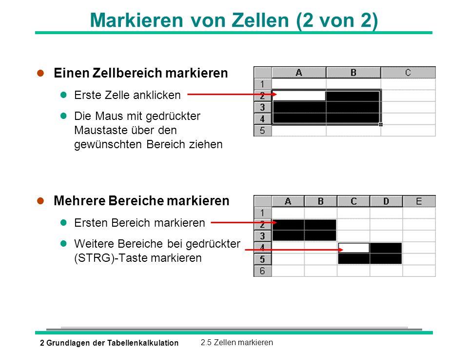 Markieren von Zellen (2 von 2)