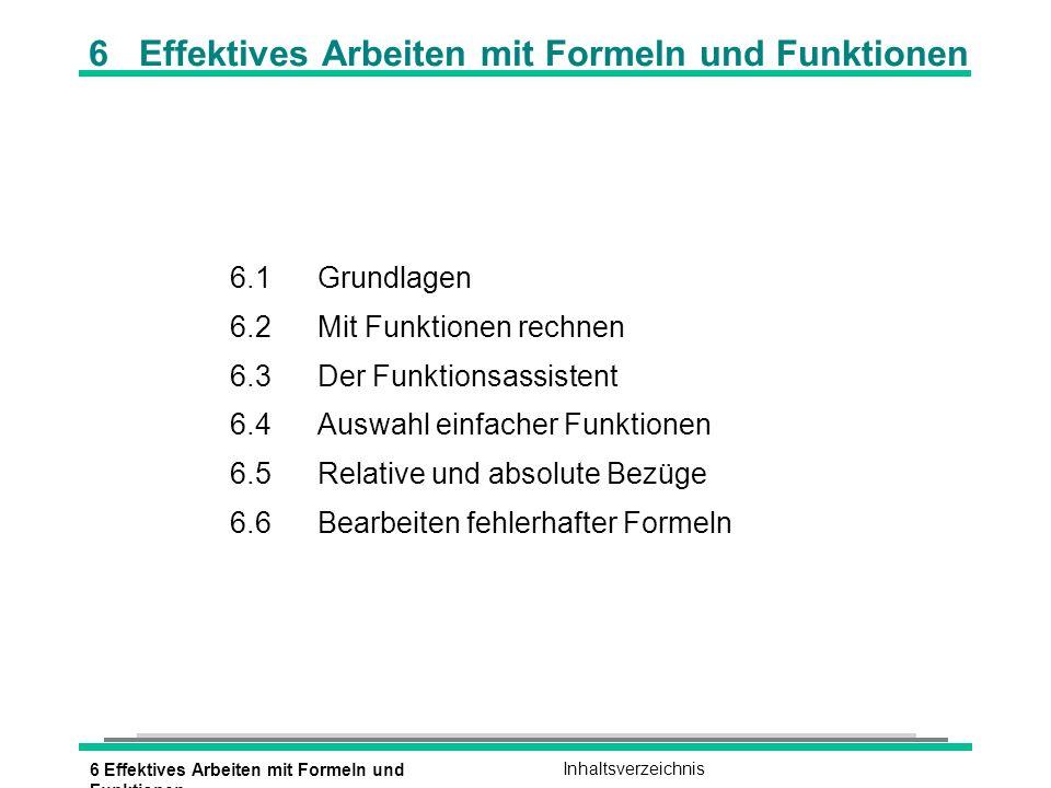 6 Effektives Arbeiten mit Formeln und Funktionen