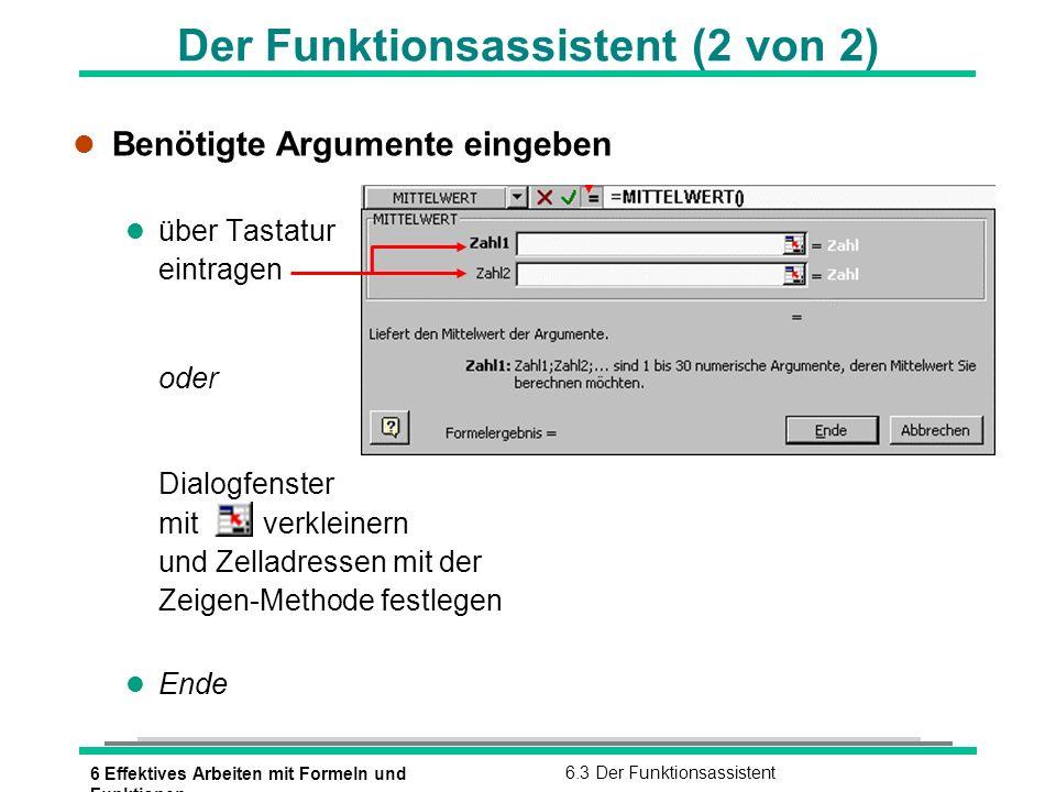 Der Funktionsassistent (2 von 2)
