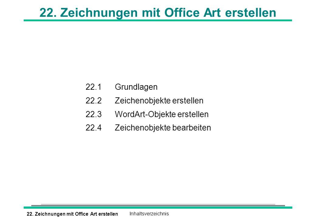 22. Zeichnungen mit Office Art erstellen