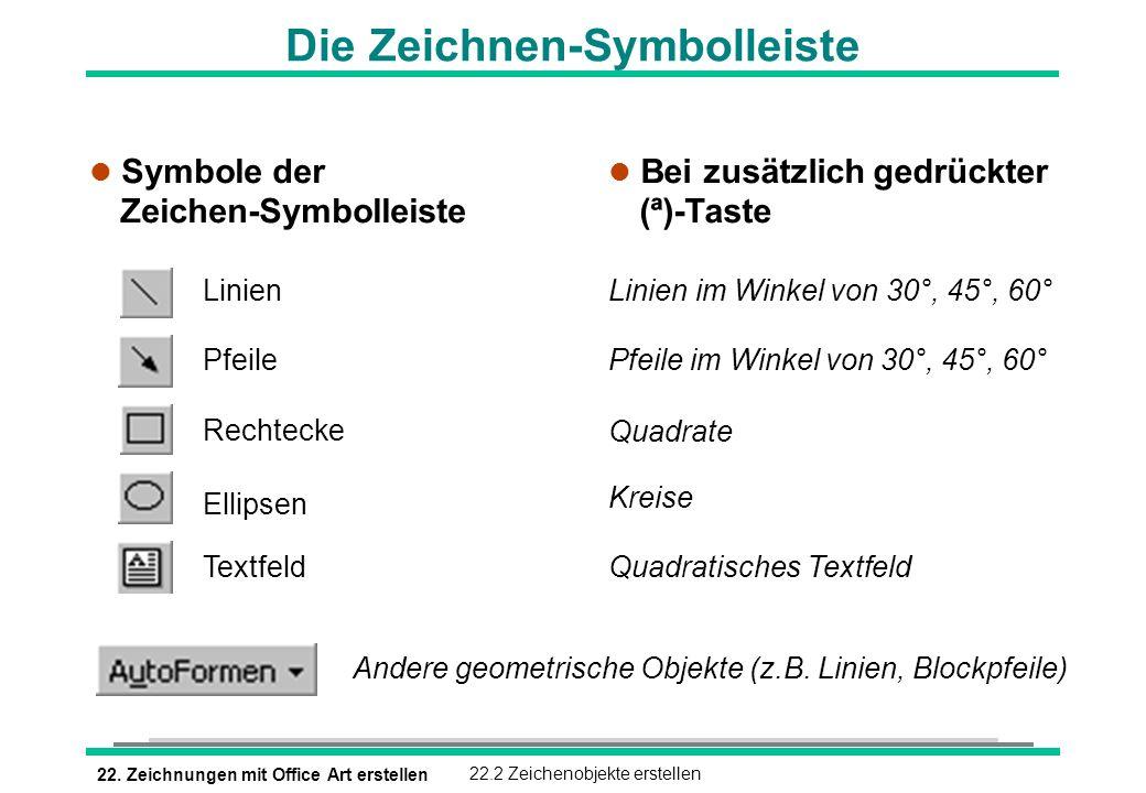 Die Zeichnen-Symbolleiste
