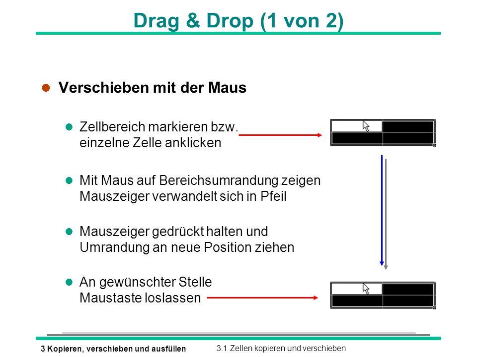 Drag & Drop (1 von 2) Verschieben mit der Maus