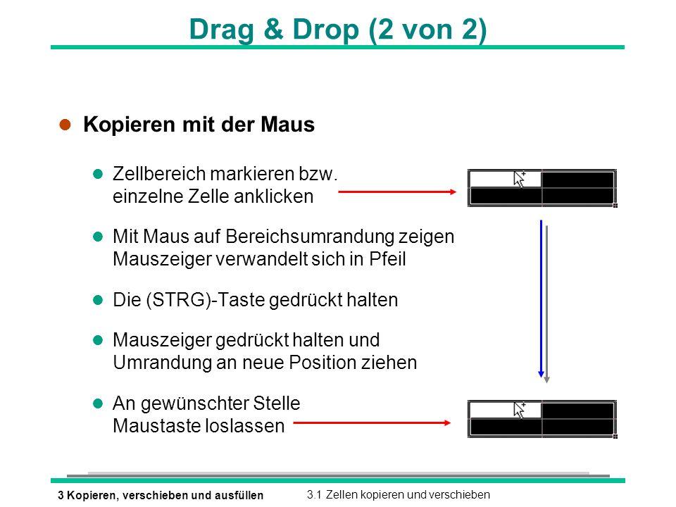 Drag & Drop (2 von 2) Kopieren mit der Maus
