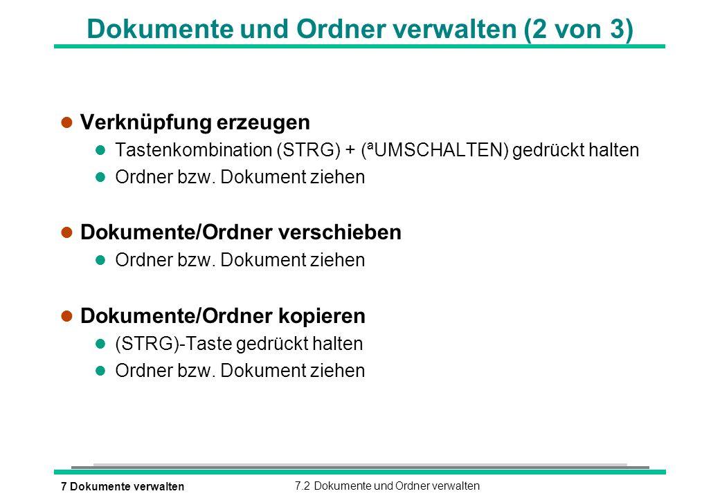Dokumente und Ordner verwalten (2 von 3)