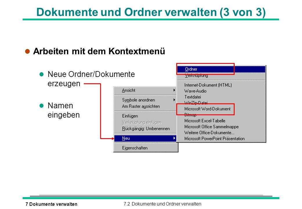 Dokumente und Ordner verwalten (3 von 3)