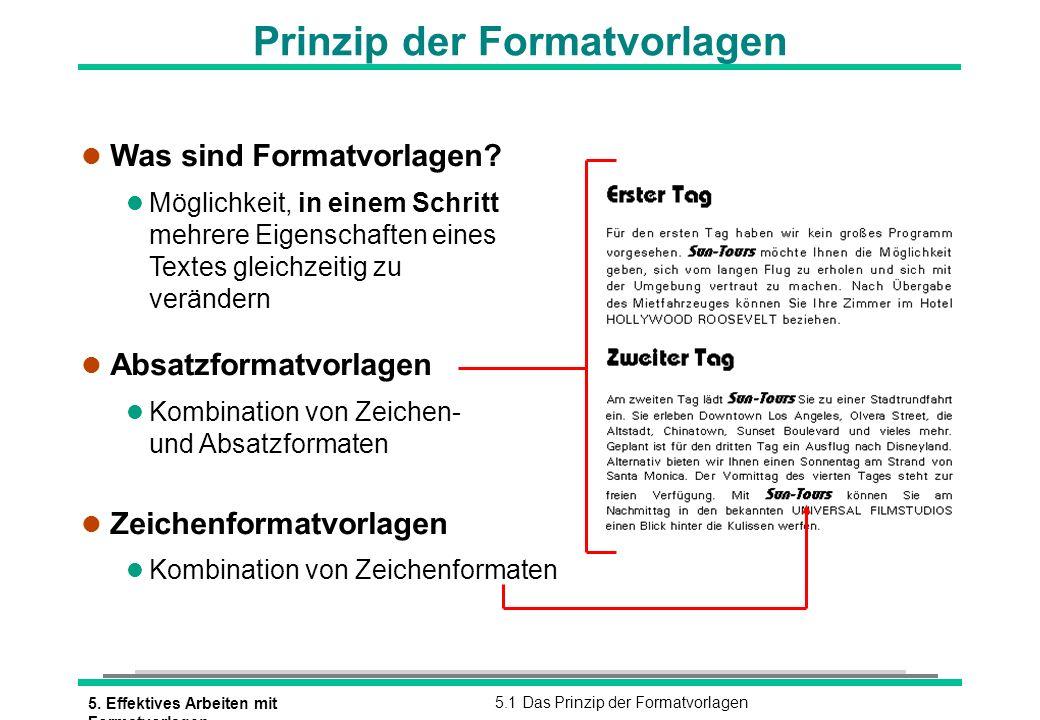 Prinzip der Formatvorlagen