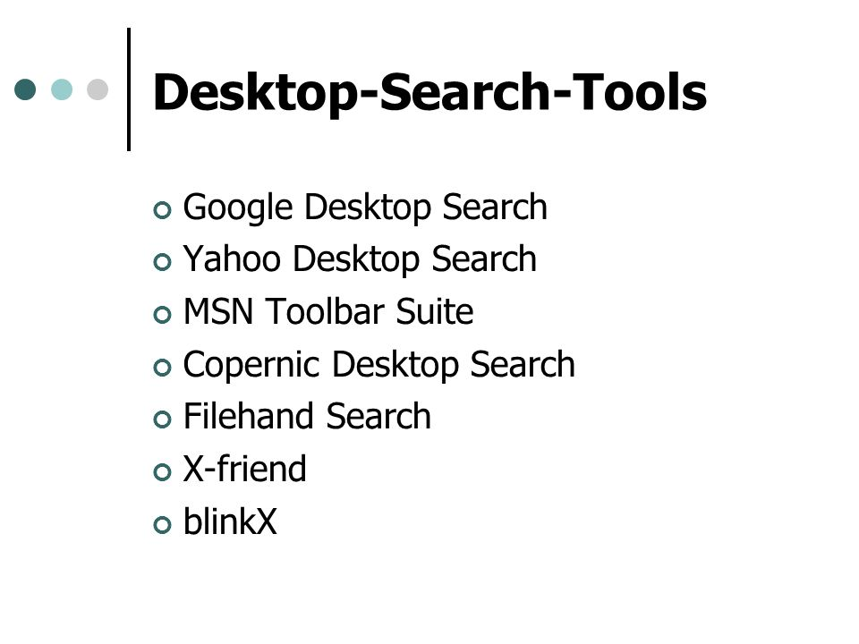 Desktop-Search-Tools