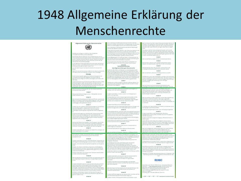 1948 Allgemeine Erklärung der Menschenrechte