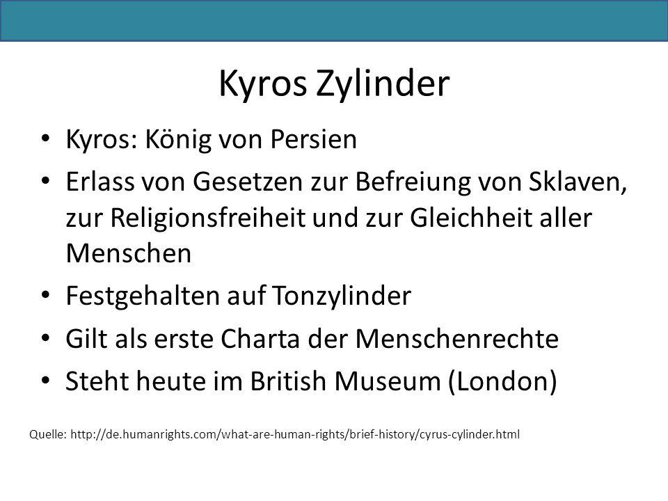 Kyros Zylinder Kyros: König von Persien