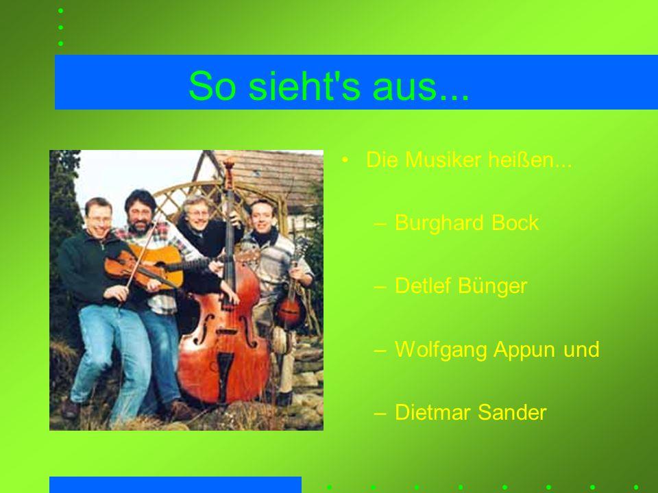 So sieht s aus... Die Musiker heißen... Burghard Bock Detlef Bünger
