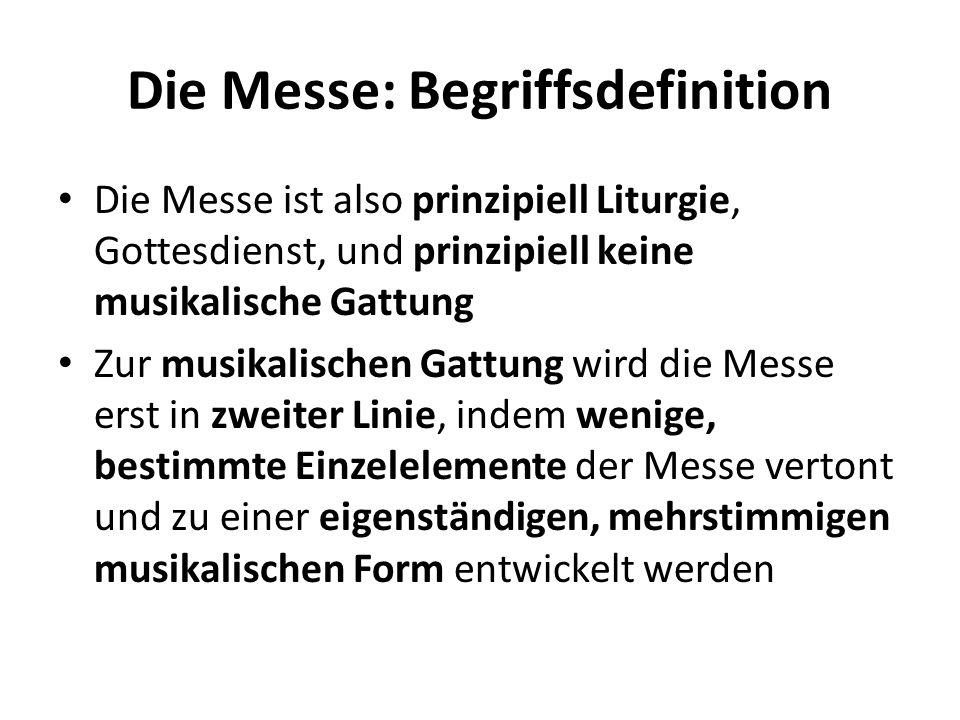 Die Messe: Begriffsdefinition