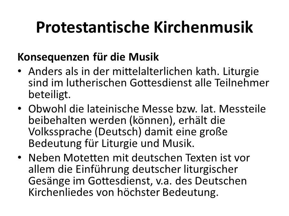 Protestantische Kirchenmusik