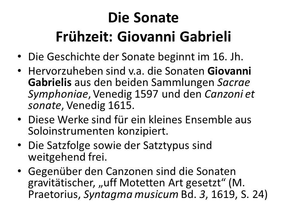 Die Sonate Frühzeit: Giovanni Gabrieli