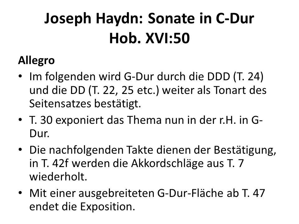 Joseph Haydn: Sonate in C-Dur Hob. XVI:50