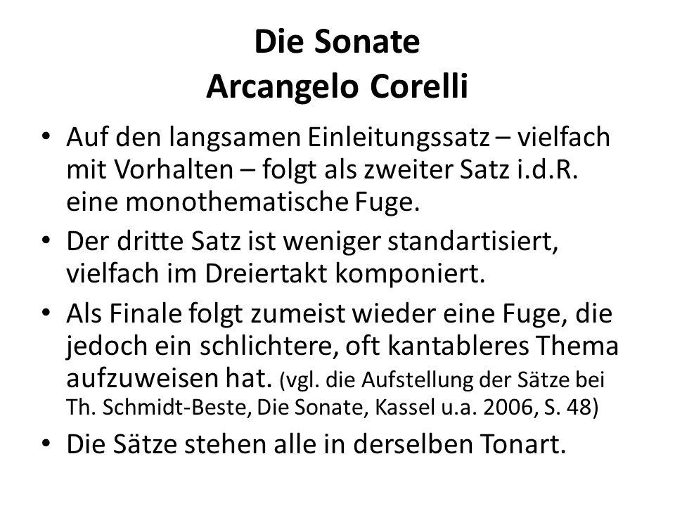 Die Sonate Arcangelo Corelli