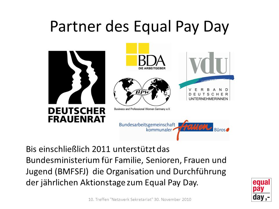 Partner des Equal Pay Day
