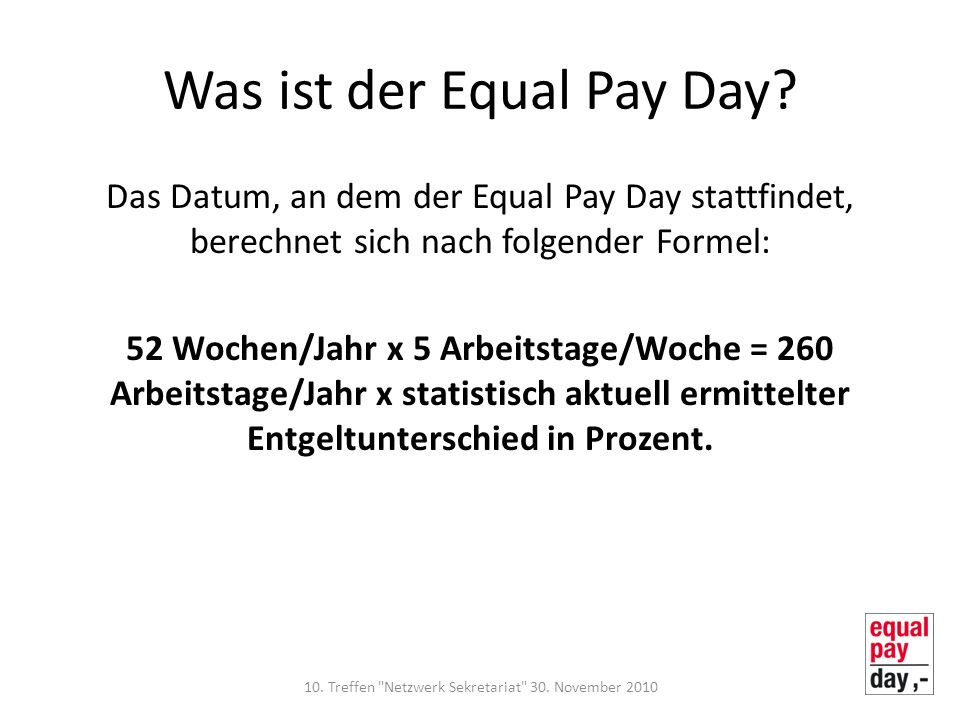 Was ist der Equal Pay Day