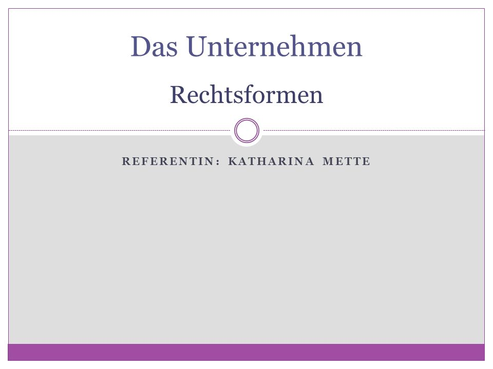 Referentin: Katharina Mette
