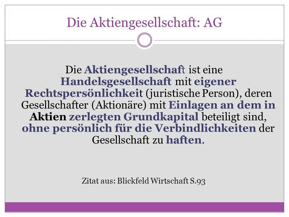 Die Aktiengesellschaft: AG