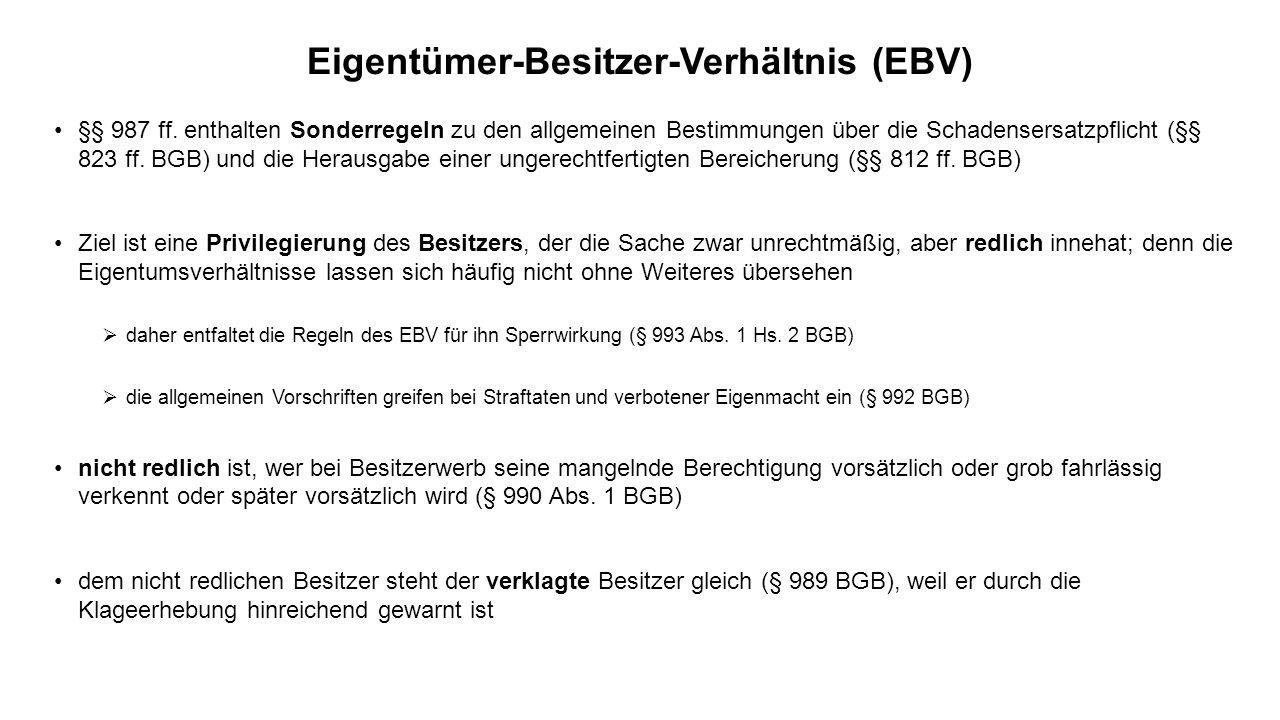 Eigentümer-Besitzer-Verhältnis (EBV)