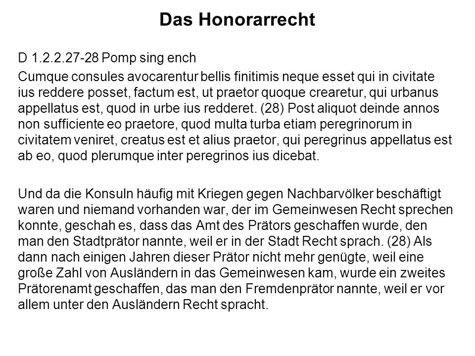 Das Honorarrecht