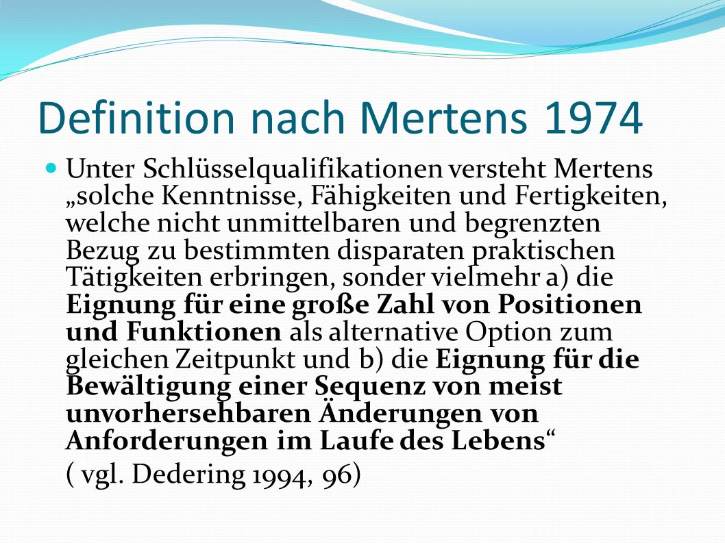 Definition nach Mertens 1974