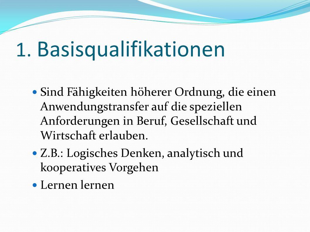 1. Basisqualifikationen