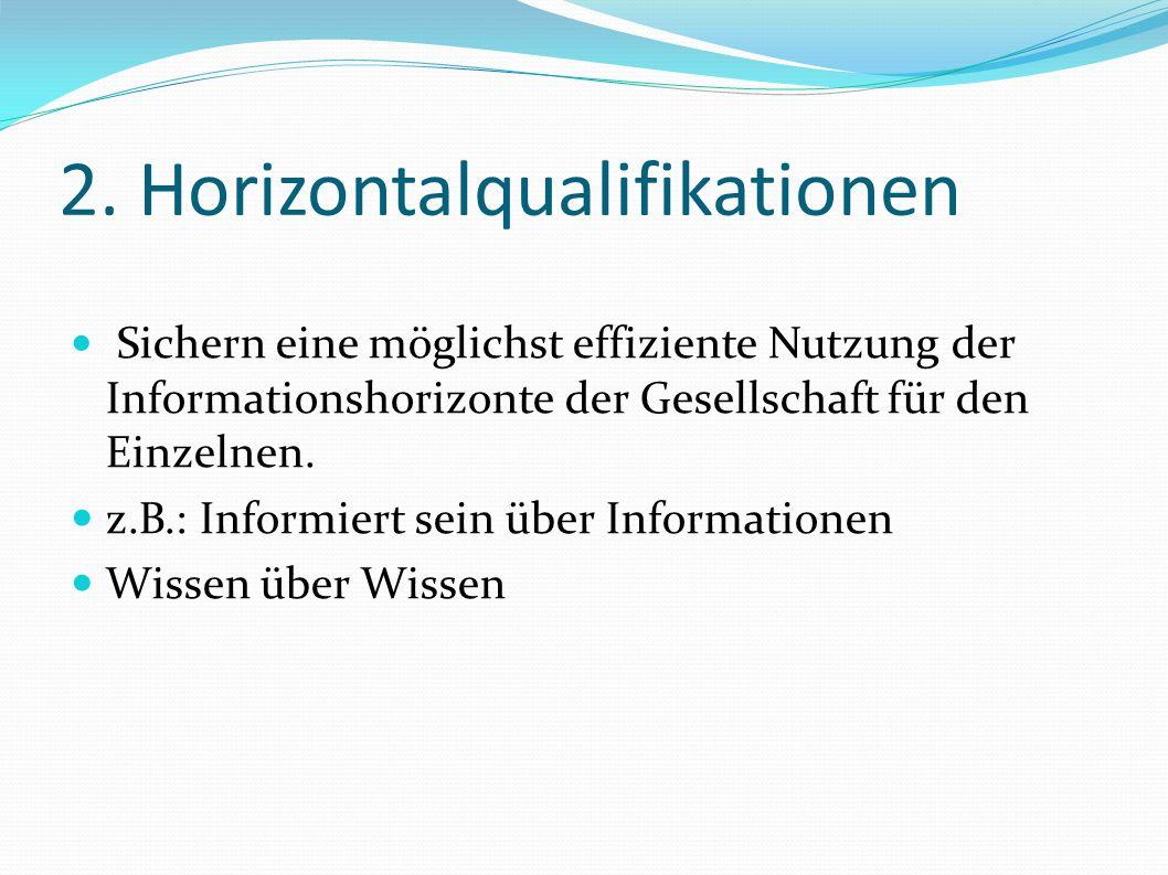 2. Horizontalqualifikationen