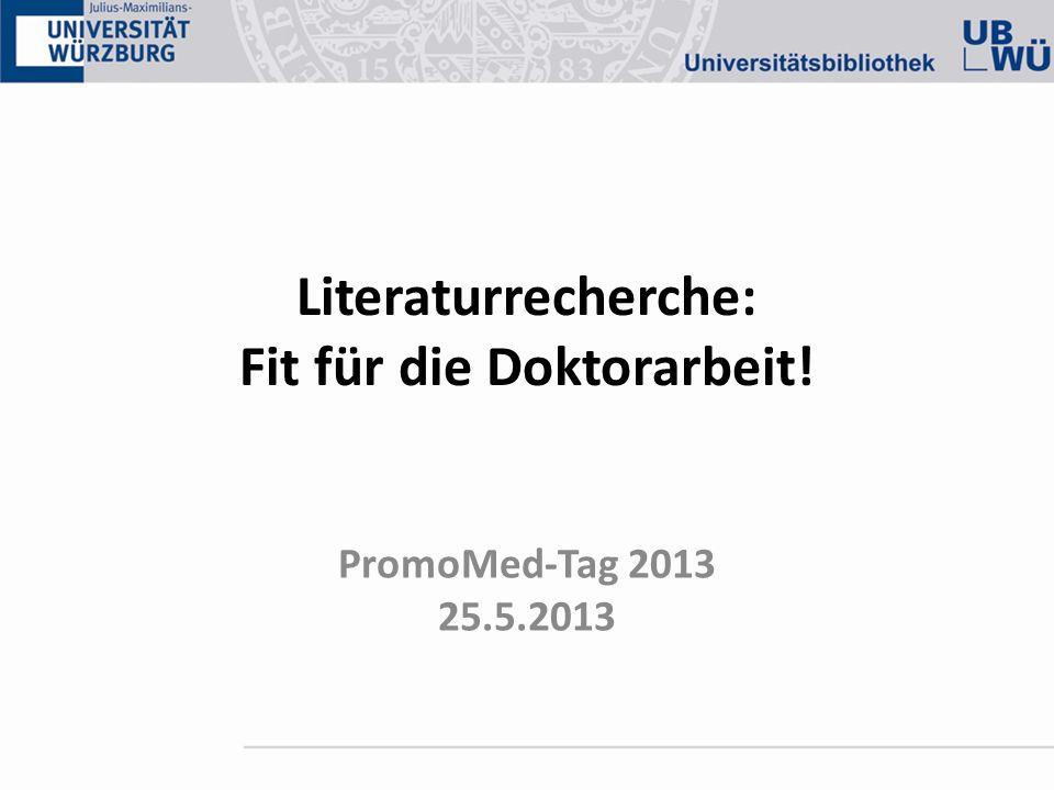 Literaturrecherche: Fit für die Doktorarbeit!