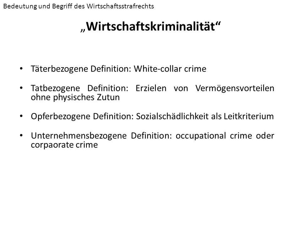 """""""Wirtschaftskriminalität"""