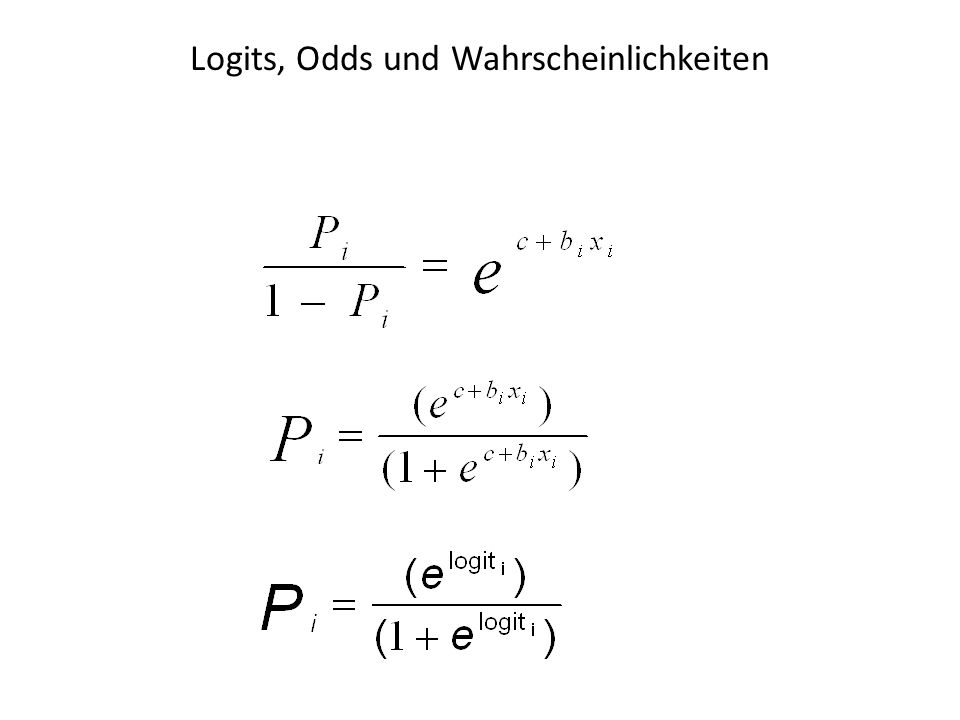 Logits, Odds und Wahrscheinlichkeiten