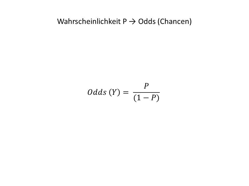 Wahrscheinlichkeit P → Odds (Chancen)