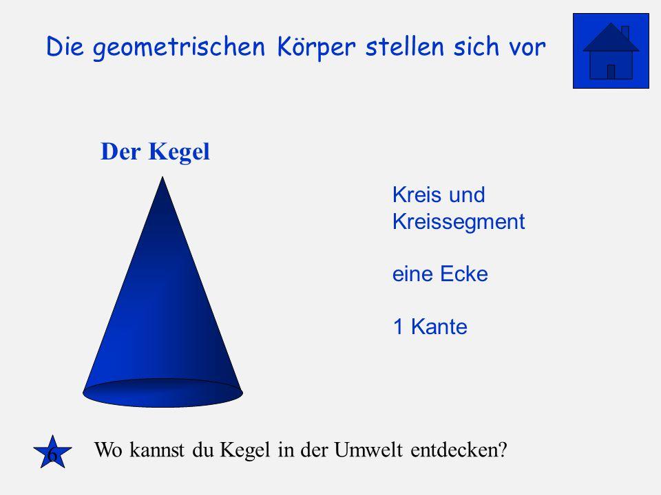 Der Kegel Kreis und Kreissegment eine Ecke 1 Kante