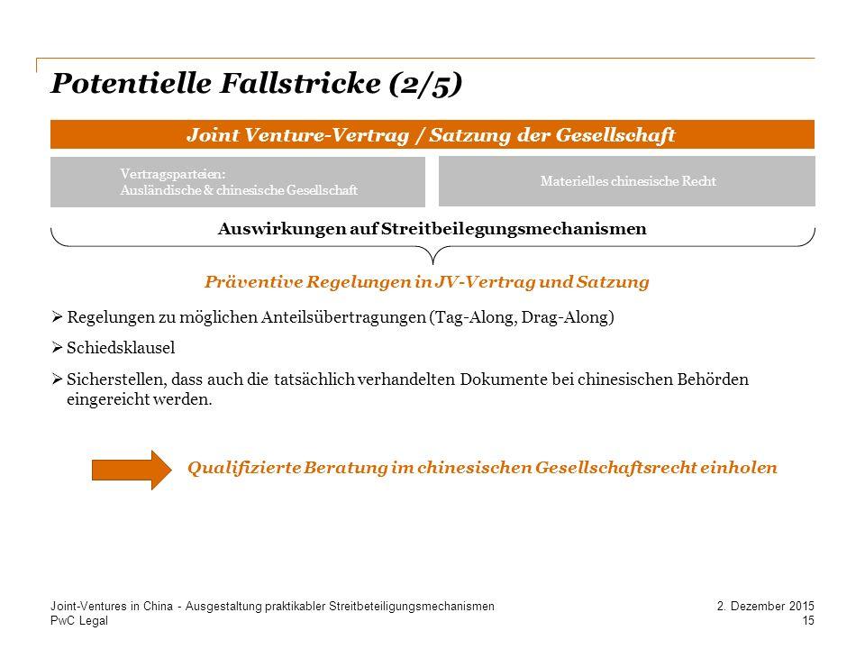 Potentielle Fallstricke (2/5)