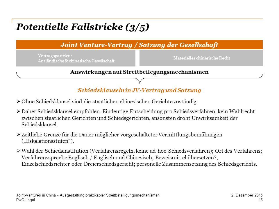 Potentielle Fallstricke (3/5)